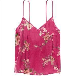 Victoria's Secret Floral Velvet Cami